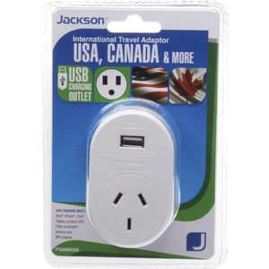 Jackson Outbound USA Travel Adaptor with USB Port