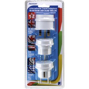 Jackson Outbound Multi Travel Adaptors 3 Pack