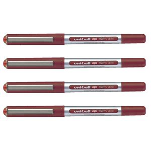 Uni-Ball Eye Micro Rollerball Pens Red 4 Pack