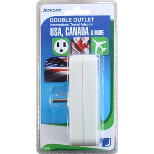 Jackson Outbound USA 3 Pin Travel Double Adaptor