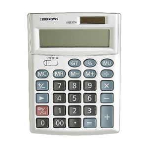 J.Burrows Desktop Calculator Silver