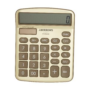 J.Burrows Desktop Calculator Gold