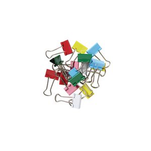 J.Burrows 19mm Foldback Clips Assorted 16 Pack