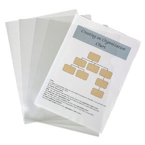 J.Burrows A4 Letter Files Clear 10 Pack