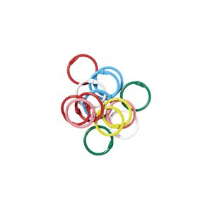 J.Burrows 25mm Hinged Rings Assorted 14 Pack