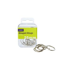 J.Burrows 25mm Hinged Rings Silver 14 Pack