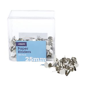 J.Burrows 25mm Paper Binders Silvers 150 Pack