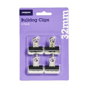 J.Burrows 32mm Bulldog Clips 4 Pack