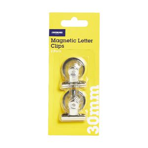 J.Burrows 30mm Magnetic Letter Clips 2 Pack