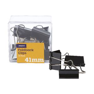 J.Burrows 41mm Foldback Clips 10 Pack