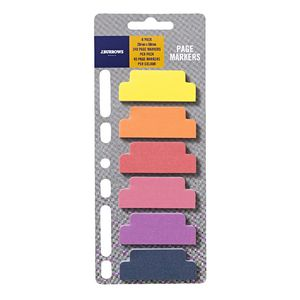 J.Burrows Page Markers 20 x 50mm Warm 6 Pack