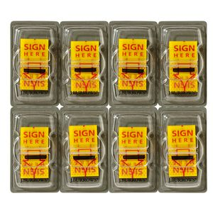 J.Burrows Sign Here Flags 25 x 44mm 8 Pack