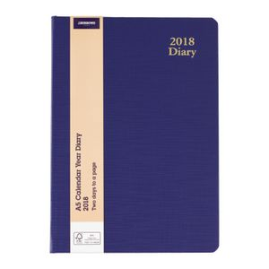 J.Burrows A5 2DTP 2018 Diary Blue
