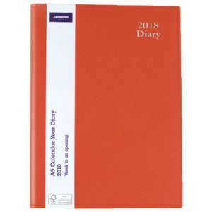 J.Burrows A5 Executive WTV Diary Red