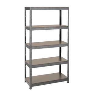 Heavy Duty 5 MDF Shelf Storage Unit  910 x 410 x 1800mm