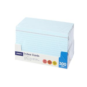 J.Burrows Index Cards Ruled 152 x 102mm Blue 300 Pack