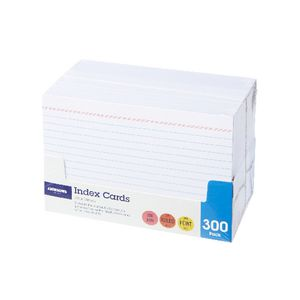 J.Burrows Index Cards Ruled 152 x 102mm White 300 Pack