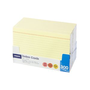 J.Burrows Index Cards Ruled 152 x 102mm Yellow 300 Pack