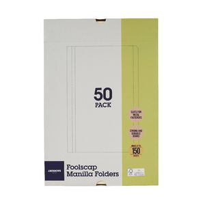 J.Burrows Manila Folder Foolscap Buff 50 Pack at Office Works in Trinity Gardens, SA | Tuggl