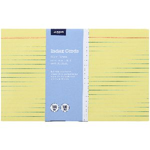 J.Burrows Index Cards Ruled 203 x 127mm Yellow 100 Pack