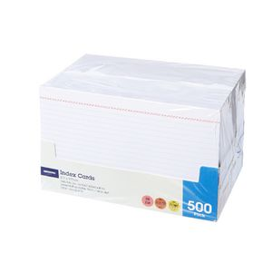 J.Burrows Index Cards Ruled 203 x 127mm White 500 Pack