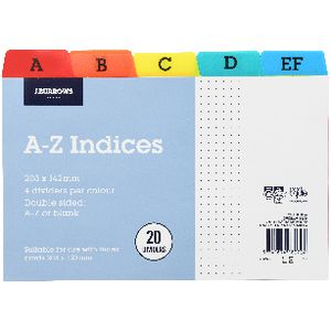 J.Burrows A-Z Index Card Dividers 203 x 127mm