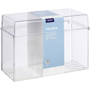 Jburrows index card file box 203 x 127mm clear officeworks jburrows index card file box 203 x 127mm clear reheart