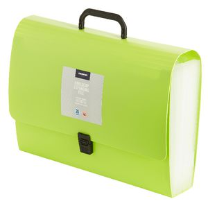 J.Burrows Expanding File Foolscap 26 Pocket Green