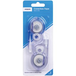 J.Burrows Correction Tape 5mm x 8m 2 Pack
