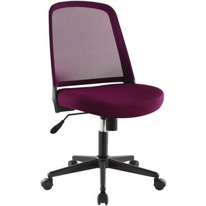 Acton Medium Back Mesh Chair Burgundy