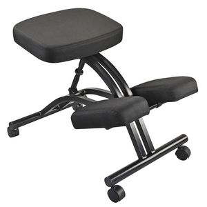 adjustable kneeling stool black | officeworks
