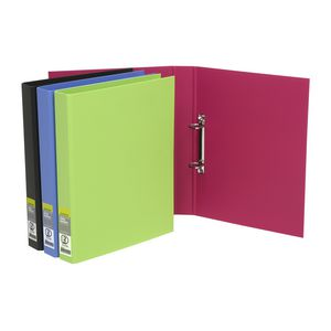 J.Burrows A4 2 D-Ring Binder 25mm Black