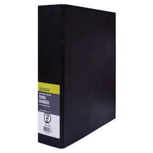 J.Burrows Binder A4 2 D-Ring 50mm Black