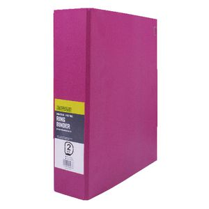 J.Burrows Binder A4 2 D-Ring 50mm Pink