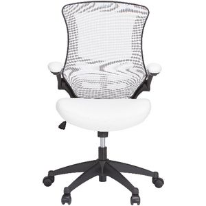 Baku Medium Back Chair White