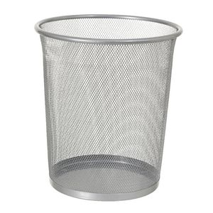 J.Burrows 8L Wire Mesh Waste Bin Silver