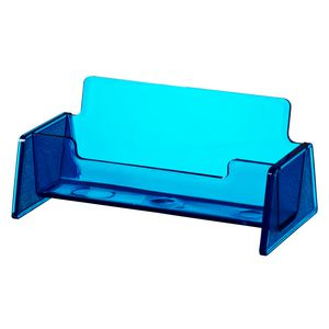 J.Burrows Business Card Holder Tinted Blue