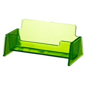 J.Burrows Business Card Holder Tinted Green