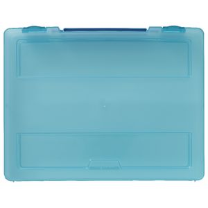 J.Burrows Stationery Case with Handle Blue