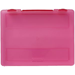 J.Burrows Stationery Case with Handle Pink