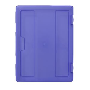 J.Burrows Stationery Case A4 Clip Closure Purple