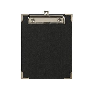Clipboard A5 with Metal Corners Black