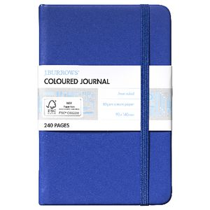 J.Burrows Pocket Journal 240 Page Blue