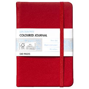 J.Burrows Pocket Journal 240 Page Red