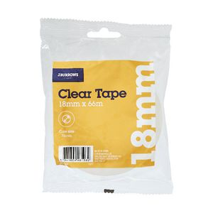 J.Burrows Clear Adhesive Tape 18mm x 66m