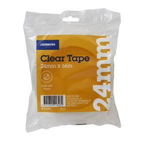 J.Burrows Clear Adhesive Tape 24mm x 66m