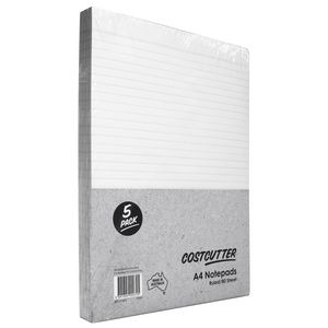 Costcutter A4 Ruled Notepad 5 Pack
