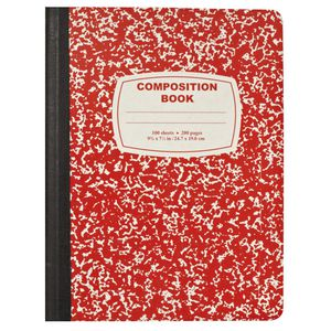 Composition Book Red Officeworks