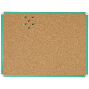 J.Burrows Cork Board 600 x 450mm Green