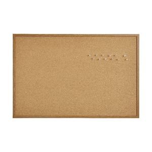 J.Burrows Cork Board 900 x 600mm Oak